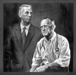 original painting of Bill W and Dr Bob