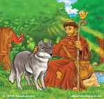 St_Francis_of_Assisi_and_wolf_by_zabdyr