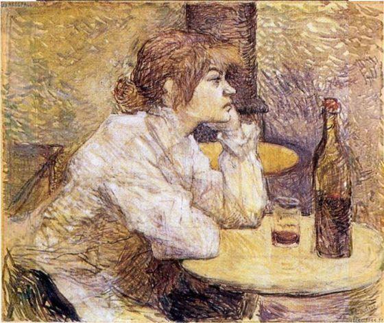 Hangover (The Drinker) by artist Lautrec